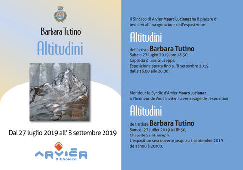 Altituidini - Barbara TUTINO - Estate 2019 - ARVIER